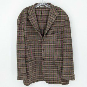 Harry Rosen Plaid Colorful Sport Coat Size 48 Reg